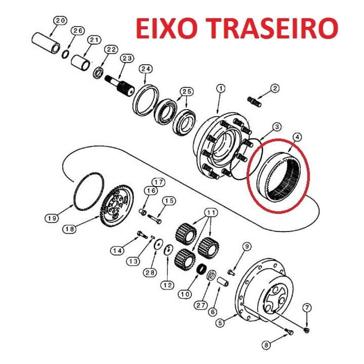 COROA EIXO TRASEIRO - CASE 580L 175976