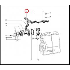 Válvula Termostática - NEW HOLLAND TL75 / TL85 / TL95 (MOTOR MWM)