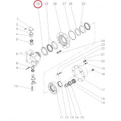 Retentor Cubo Roda Tração 4x4 - ZF APL359 / AS2060 / AS3060 / AS3065 - JOHN DEERE 5705 | 7500 / 7505 / 7515