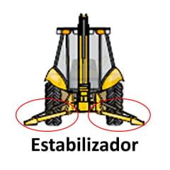 HASTE CILINDRO HIDRÁULICO ESTABILIZADOR - JCB (60MM - 78,5CM DE HASTE)
