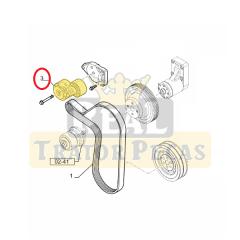 Tensionador Esticador Correia Alternador - NEW HOLLAND TS6000 / TS6020 / TS6030 / TS6040 / TS6050 / TS6060 / TS6070 / TS6080 (2007 A 2013)   TS115A / TS110A / TS130A (2005 A 2007)   TM7010 / TM7020 / TM7030 / TM7040 (2008 A 2013)