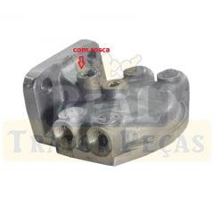 Cabeçote Filtro Diesel - TRATOR MASSEY FERGUSON 265 / 275 / 290 / 295 / 296 - RETROESCAVADEIRA MAXION 750 (rosca 1/2)