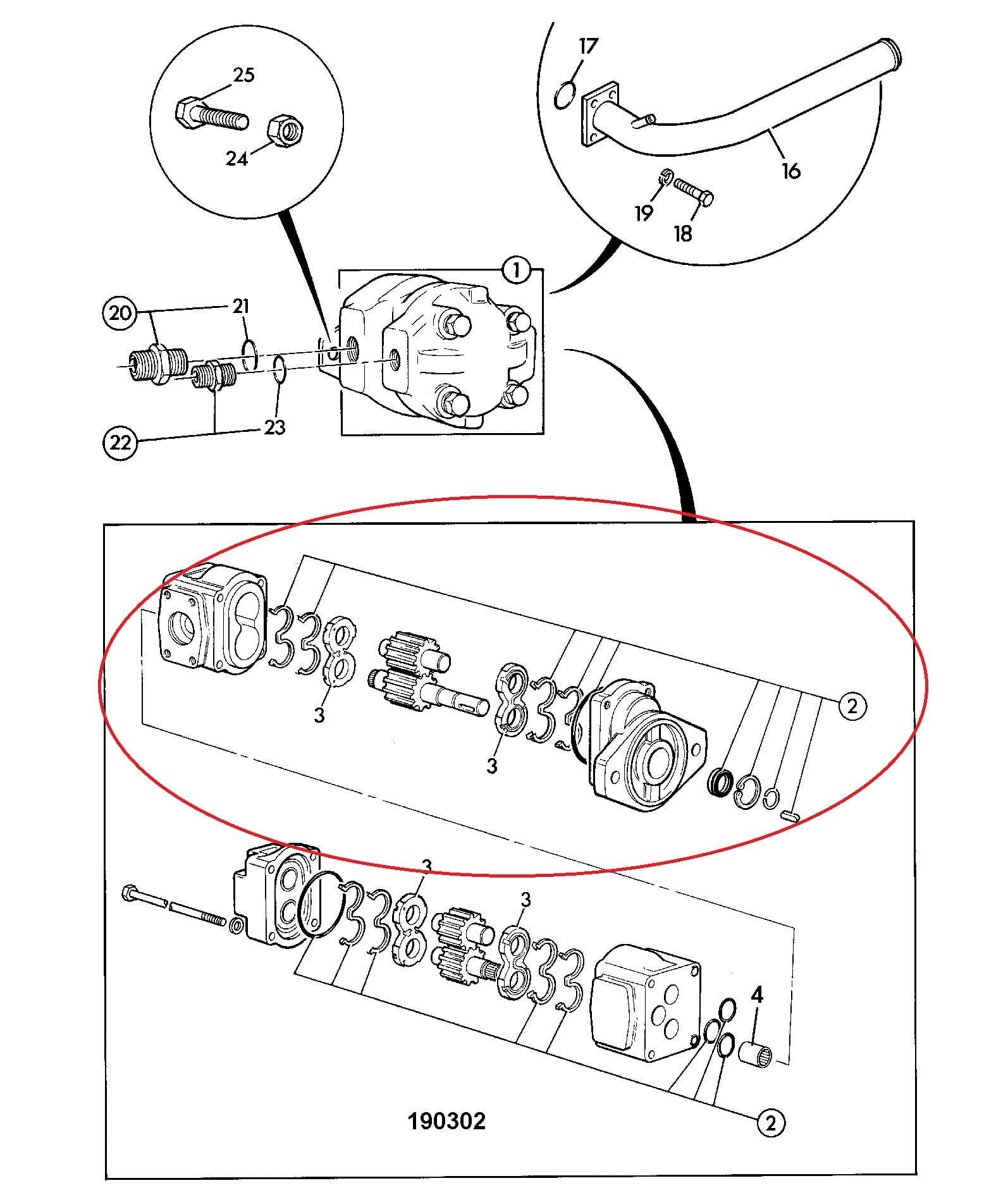 Bomba Hidráulica Principal – JCB 214E (Eixo Chavetado)