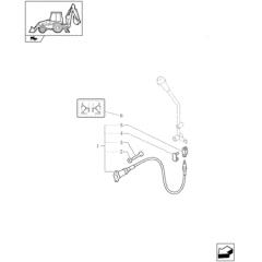 CABO ESTABILIZADOR SAPATA - NEW HOLLAND LB90 / LB110 - B90B / B95B / B110B