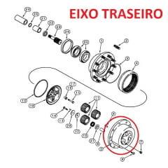 CUBO EIXO TRASEIRO - CASE 580L 580M