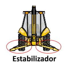 HASTE CILINDRO HIDRAULICO ESTABILIZADOR SAPATA - CASE 580H (PERKINS) / 580 SUPER H (CUMMINS)