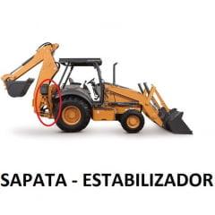 HASTE CILINDRO HIDRÁULICO ESTABILIZADOR SAPATA - CASE 580L / 580M (50,5MM ESPESSURA)  ROSCA EXTERNA