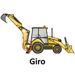 Haste Cilindro Giro - CASE 580L / 580M