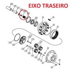 EIXO PINHÃO DA SATELITE DO EIXO TRASEIRO - CASE 580L / 580M (ALGUNS MODELOS) ***CURTO***