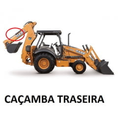 JOGO DE VEDAÇÃO REPARO CILINDRO HIDRÁULICO CAÇAMBA CONCHA TRASEIRA - CASE 580H / SUPER H