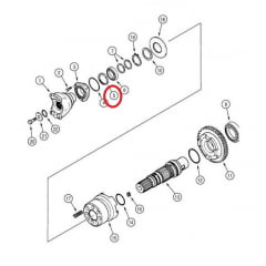 Retentor - Cardan  - CASE 580L (50X65X8)