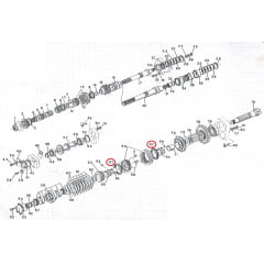 ANEL SINCRONIZADOR CAIXA - VALMET 62 / 65 / 78 / 85 / 86 / 88 | VALTRA 685 / 785 | BF65 / BF75 | 1280 / 1580 / 1780 | BH140 / BH160 / BH180 (MAIOR - INFERIOR)