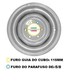 "Aro Dianteiro 4x2 - CHAPA 8MM - MASSEY FERGUSON 55X / 65X / 250 / 265 / 275   VALMET 62 / 65 / 68 / 78 / 88   FORD 4600 / 4610 / 5600 / 5610 / 6600 / 6610 / 7610 (Para Pneu 7.50 - 16"")"
