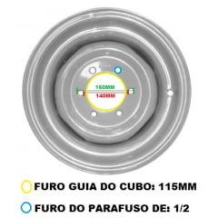 "Aro Dianteiro 4x2 – MF 50x / 55x / 235 (Para Pneu 6.00 - 16"")"
