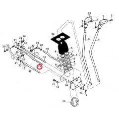 BARRA SELETORA CAMBIO - VALTRA 885/985 - BM85 / BM100 / BM110 / BM120