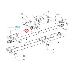 EIXO CARDAN TRAÇÃO 4x4 - NEW HOLLAND TL70 / TL75 / TL75E / TL80 / TL85 / TL85E / TL90 / TL95  / TL95E / TL100 (1510mm)