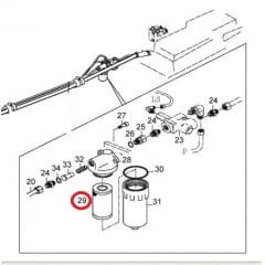 ELEMENTO FILTRO HIDRAULICO - 600A900 / BH140A180 (CH10119)