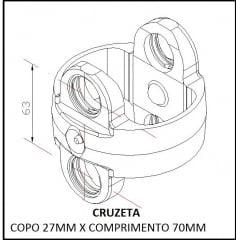 Garfo Duplo Para Cruzeta - Tração Carraro  4x4 – RETROESCAVADEIRA CASE 580L / 580M | NEW HOLLAND LB90 / LB110 | RANDON 406 / FIATALLIS FB80.2 / FB100.2