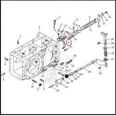 Garfo Seletor Caixa – VALMET 62 / 65 / 68 / 78 / 85 / 86 | 685/785/BF65/BF75 (ESQUERDO)