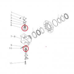 MANCAL - PARA PIVO SUPERIOR E INFERIOR - TRAÇAO ZF350/345 - MASSEY FERGUSON  290 / 292 / 297 / 299 | 610 A 640 | VALTRA 885/985/1180/BM85 A 120 / FORD 7610/7630/7830/8030 | JOHN DEERE 6300/6405/6600/6605 | AGRALE BX490/BX4110/BX4130/BX6110/BX6190