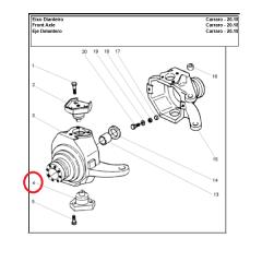 PIVO INFERIOR - CARRARO 20.18 - MASSEY FERGUSON / NEW HOLLAND / CASE