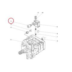 Valvula Alivio Bomba do Hidraulico Trator MF - MASSEY FERGUSON 265 / 275 / 283 / 290 (APÓS 2001)